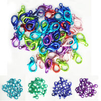 Useful 20/50Pcs Colorful Plated Lobster Claw Clasps Hook Connector Jewelry 14mm