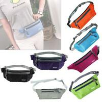 Outdoor Sport Bum Bag Fanny Pack Travel Waist Money Flexible Belt Zip Pouch TH