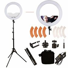 GINSON 18 inch 240 LED Ring Light Mirror Make Up Beauty Light with Stand for