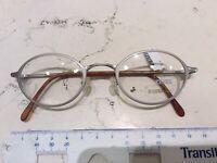 Zeiss 1305 5100 45-22 occhiale vista vintage nuovo metallo argento opaco