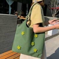 Canvas Shoulder Bag Shopping Bags Student School Bag Casual Tote Work Bag Holder