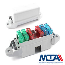 Maxi Blade Fuse Box - Holds 6 Maxi Blades - Complete with Terminals - MTA Italy