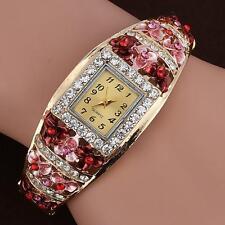 Women Luxury Crystal Flower Bracelet Watch Fashin Alloy Analog Quartz wristwatch