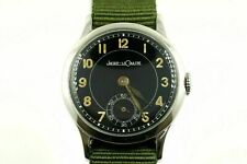 RARE VINTAGE JAEGER-LECOULTRE MILITARY WWII 463 NICKLE FINISH CASE WRIST WATCH