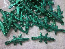 """6 Dozen (72 pieces) """"Green Alligator Trinkets"""" 70mm - Bulk Crafts Gators"""