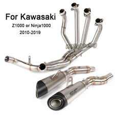 For Kawasaki Ninja 1000 Z1000 2010-2019 Slip on Exhaust System Whole Set Pipe