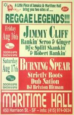 Jimmy Cliff, Burning Spear & Strickly Roots | Orig. 1997 Reggae Concert Poster