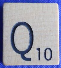 Single Scrabble Natural Wood Letter Q Tile One Only Replacement Game Part Pieces