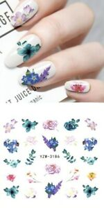 DIY Nail Art Decorations 3D Laser Flower Manicure Nail Stickers Nail Transfer