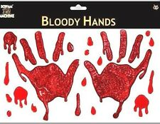 HALLOWEEN BLOODY HANDS WINDOW STICKERS DECORATION