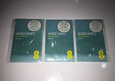 EE 4G 6GB (3 x 2GB SIM) WiFi Internet. iPad/Tablet/Dongle/MiFi MICRO/NANO/Normal