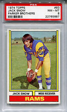 1974 Topps Parker Brothers Draft Game JACK SNOW Rare Rams PSA 8 No Others