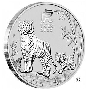 2022 Lunar Tiger 1 oz Silver Coin