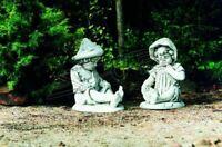 Kind 71cm Skulptur Design Figur Statue Garten Figuren Statuen Skulpturen 341