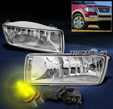 2006-2010 Ford Explorer/2007+ Sport Trac Bumper Fog Light Lamp Chrome +3000K Hid