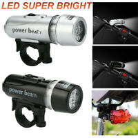 Waterproof 3 Modes LED Bicycle Head Light Night Cycling Light Super Bright AAA