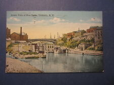 Old Vintage 1920 - LOCKPORT N.Y. - Postcard - Lower View of New Locks - CANAL