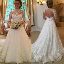 Women White Princess Marriage Wedding Dress Bridal Ball Gowns Formal Dresses USA