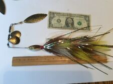 Triple Bucktail Spinnerbait Fishing Lure Muskie/musky/pike