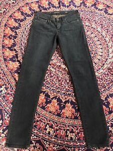 Levis Mid Rise Slight Curve Skinny Black  Jeans 27 32