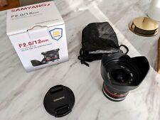 Samyang 12mm F/2.0 CS MF APS-C NCS Weitwinkelobjektiv für Sony E-Mount- WIE NEU!