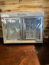 bulova Silverplate Frame Clock And Picture Frame