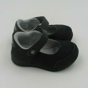 Toddler Girls' Surprize by Stride Rite Dolly Mary Jane Shoes Black Glitter Sz 5