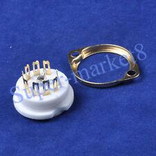 6Pc Tube Socket Gold Plate Ceramic 9Pin Chassis 12Ax7 12Au7 Ecc83 hifi diy parts