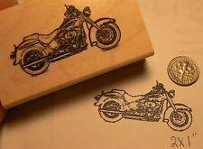 Harley Davidson soft tail motorcycle rubber stamp P51
