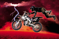 #2393 Motor Cross Red Poster 24x36
