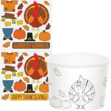 Thanksgiving Kids Activity Treat Cups 6 Pack Party Decorations