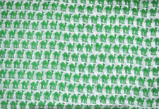 10 Yard Green Fabric Indian Hand Block Print Sewing Material Craft By The Yard