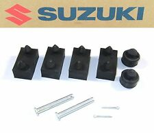 New Seat Rubber Mount Kit with Pins Genuine Suzuki OEM Saddle Bumpers Notes #G52