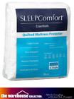 SLEEP COMFORT QUEEN Q BED MATTRESS PROTECTOR QUILTED STRAP FIT COTTON COVER