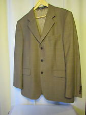 veste blazer yves saint laurent  laine taupe rayé taille 52