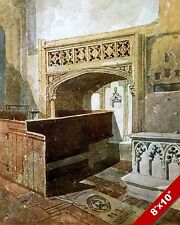 NORWICH CATHEDRAL CHURCH INTERIOR ENGLAND ENGLISH ART PAINTING REAL CANVAS PRINT