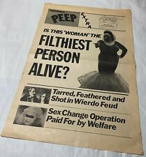 RARE John Waters / Divine / Pink Flamingos promotional item flyer/fake tabloid!!