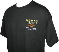 Norah Jones World Tour Canadian Concert Local Crew T-shirt X-Large New