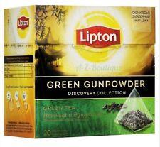 LIPTON GREEN GUNPOWDER TEA BAGS - 4 BOXES