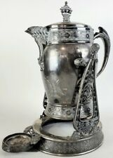 Antique Wilcox Silverplate Tipping Insulated Coffee Server Pot Aesthetic Period