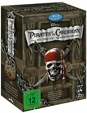 Fluch der Karibik (Pirates of the Caribbean) 1.- 4. (BluRay) Boxset -NEU & Ovp-