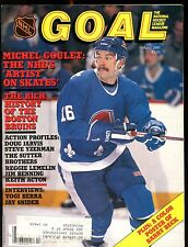 Goal Magazine NHL APril 1985 Michel Goulet EX w/ML 012717jhe