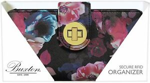 Buxton Midnight Rose RFID Wallet One Size