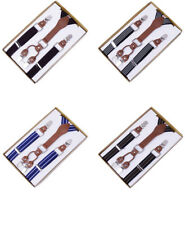 Adjustable Slim Trouser Braces Suspenders Clip On Dress Heavy Unisex