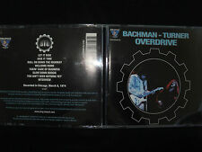 RARE CD BACHMAN / TURNER / OVERDRIVE / LIVE CHICAGO 1974 /