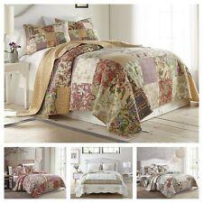 Chezmoi Collection 3-Piece Patchwork Quilt Set Pre-Washed Cotton Bedspread Set