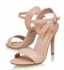 Kurt Geiger Shoes Size 8 Nude Beige Sandals Ankle Strap High Heels Miss KG NEW
