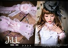 Gothic lolita Valkyrie maid Lace Rose Ribbon Chain Choker & Bracelet Set 350 PN