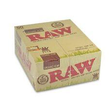 RAW ORGANIC ROLLING PAPER 50 PACK KING SIZE SLIM NATURAL HEMP UNREFINED FULL BOX