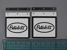 "Pair Mud Flaps Guards ""Peterbilt"" Logo Tamiya RC 1/14 Grand King Knight Hauler"